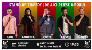 Stand-up Comedy cu Ardeleneșii, la Andy's Caffe Turda
