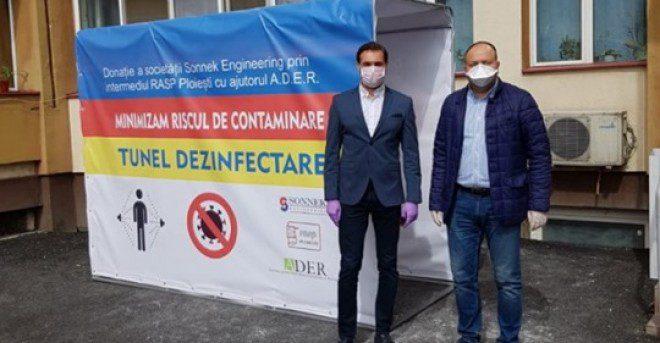 Tunel de contaminare, donat de un ONG Spitalului Judetean din Ploiesti, cu sprijunul RASP