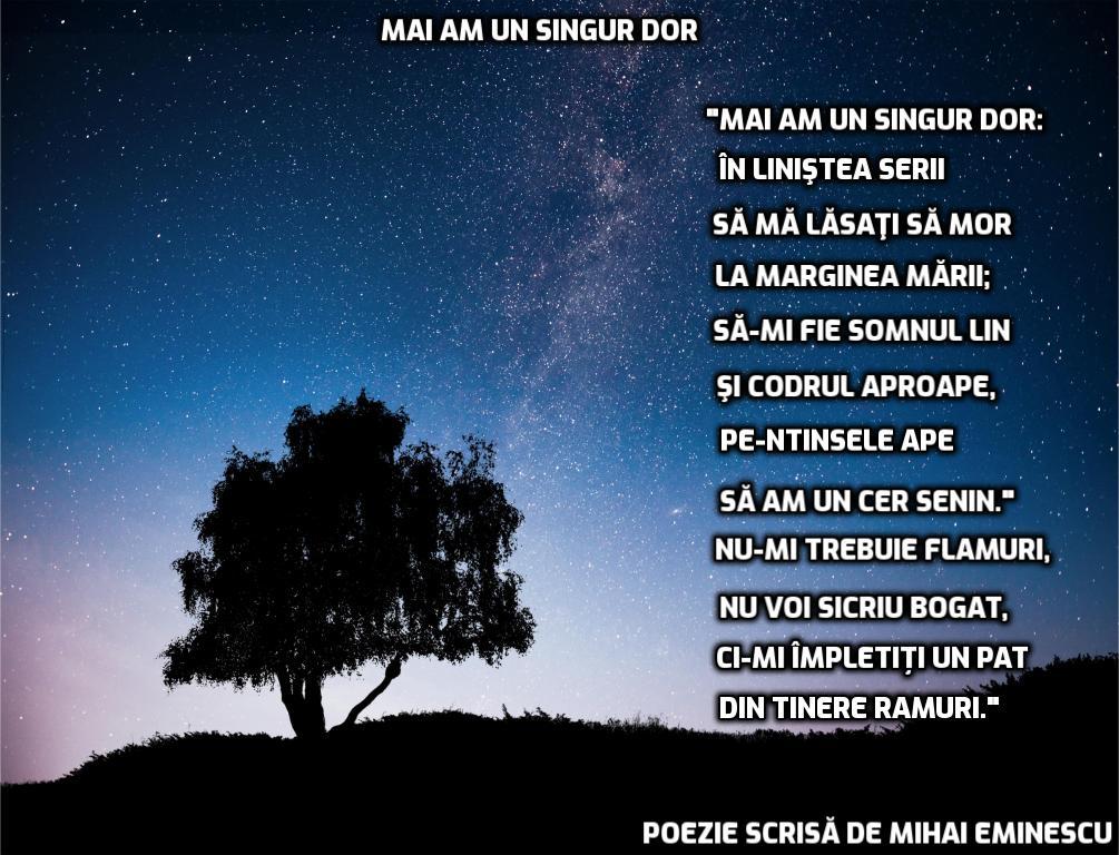 poezii scrise de Mihai Eminescu