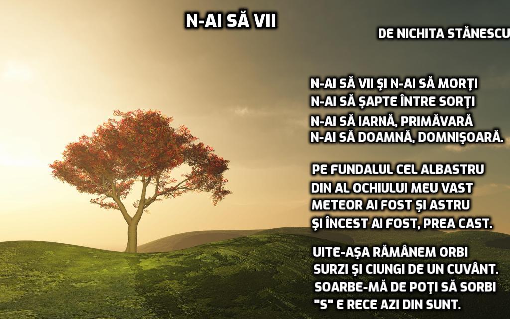 poezii scrise de Nichita Stănescu