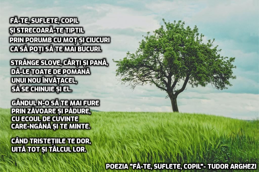 poezii scrise de Tudor Arghezi